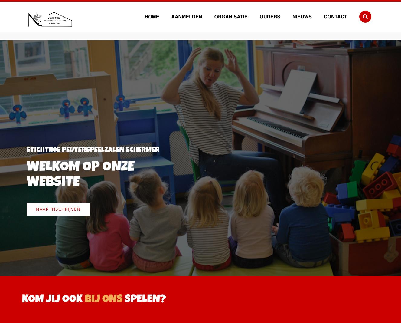 Website peuterspeelzaal